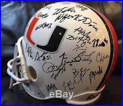 Miami Hurricanes 2001 National Champions Sean Taylor Autographed FS Helmet Gore