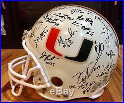 Miami Hurricanes 2002 Team Signed Autographed FS Helmet Sean Taylor, Gore, COA