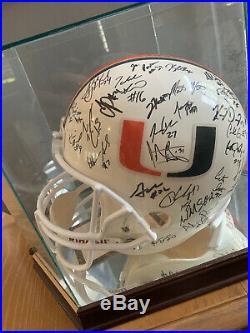 Miami Hurricanes 2002 Team Signed FS Helmet Autographed COA