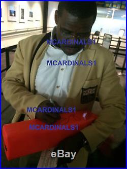 Miami Hurricanes #47 MICHAEL IRVIN Signed Autographed Football Pylon COA! PROOF