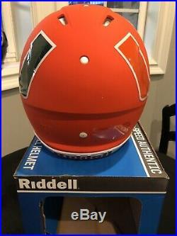 Miami Hurricanes AMP Alternate Riddell SPEED Full Size Auth Football Helmet