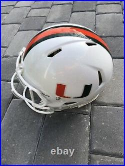 Miami Hurricanes Acc Full Size Authentic Ncaa Speed Flex Football Helmet Large