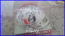 Miami Hurricanes Autograph Helmet Jacory Harris Sean Spence 19 Auto 2009 Season