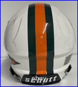 Miami Hurricanes Custom Full Size Authentic Schutt Vengeanc Football Helmet