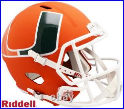 Miami Hurricanes Full Size AMP Speed Replica Helmet New In Box 10279