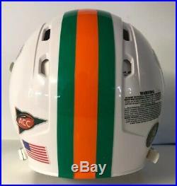 Miami Hurricanes Full Size Authentic Custom Rawlings Momentum Football Helmet