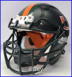 Miami Hurricanes Full Size Custom Schutt Vengeance Football Helmet Matte BLACK