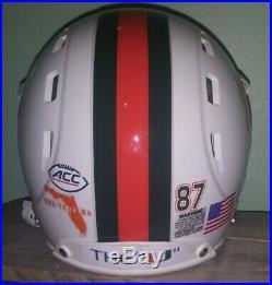 Miami Hurricanes Full Size Football Helmet #87 ACC