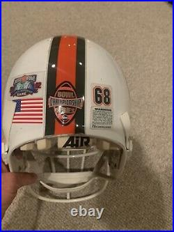 Miami Hurricanes Game Used Helmet 2002 Rose Bowl BCS