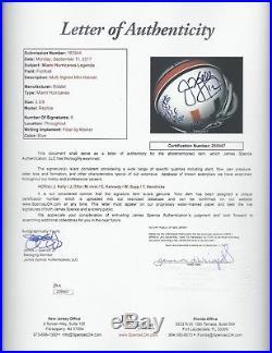 Miami Hurricanes Hof'ers Signed Mini Helmet Kelly Irvin Otto Sapp Cortez Jsa Loa