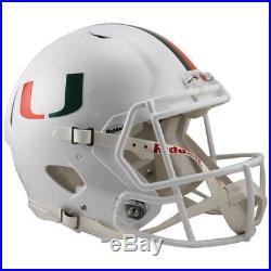 Miami Hurricanes Metallic Decal Speed Authentic Football Helmet
