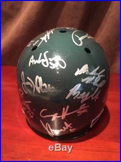 Miami Hurricanes NCAA 2015 World Series Team Signed Mini Helmet Authentic