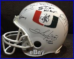Miami Hurricanes NFL Ray Lewis Ed Reed Irvin Gore Autographed FS Helmet 1/1 COAs