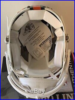 Miami Hurricanes Ncaa Full Size Authentic Bike Pro Edition Football Helmet Rare