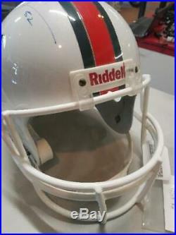 Miami Hurricanes RAY LEWIS Autographed Display Helmet (VA1021122)