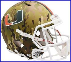 Miami Hurricanes Riddell Camo Alternate Speed Authentic Helmet