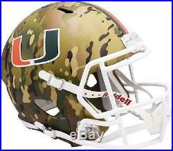 Miami Hurricanes Riddell Camo Alternate Speed Replica Helmet