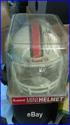Miami Hurricanes Riddell College Football Revolution SPEED Mini Helmet Signed