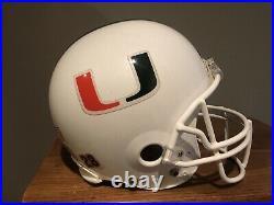 Miami Hurricanes Riddell VSR-4 Authentic Full Size Helmet, White Metallic Paint