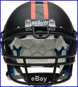 Miami Hurricanes Schutt Black Matte Authentic Football Helmet