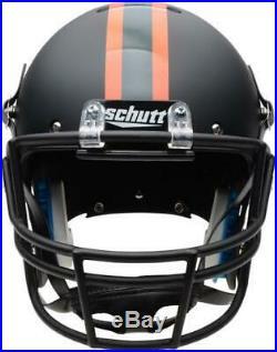 Miami Hurricanes Schutt Black Matte Replica Football Helmet