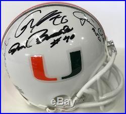 Miami Hurricanes Signed Mini Helmet