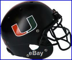 Miami Hurricanes Team-Issued Black Helmet 2019 Season Size Large AA0053754