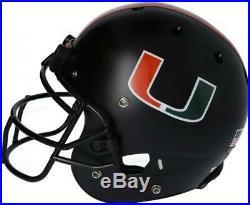 Miami Hurricanes Team-Issued Black Helmet 2019 Season Size M AA0053748