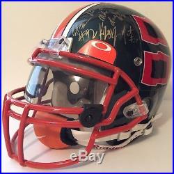 Miami Hurricanes Team Signed Autograph Helmet Riddell NFL Draft