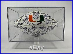 Miami Hurricanes Team Signed Football Autographed 2005 Team