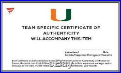 Miami Hurricanes Team-Worn White Speed Long Helmet 2013 & 2017 Seasons L