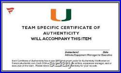 Miami Hurricanes Team-Worn White/Speed/Long Helmet Worn Between 2013-17 Seasons