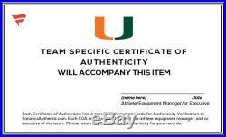 Miami Hurricanes Team-Worn White/Speed/Single Helmet 2013-17 Seasons