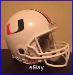 Miami Hurricanes The U Full Size Riddell Helmet College Football NCAA
