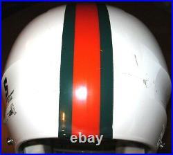 Miami Hurricanes Vintage 1976 Throwback Decals Schutt DNA Football Helmet(XL)