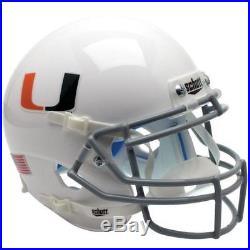 Miami Hurricanes White Schutt Xp Authentic Football Helmet