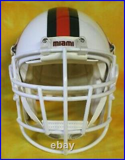 Miami Hurricanes custom fullsize football helmet Schutt Air throwback Lewis lg