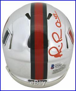 Miami Michael Irvin Authentic Signed Chrome Speed Mini Helmet BAS Witnessed