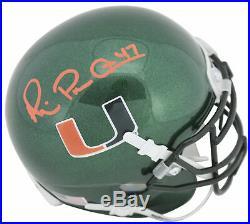 Miami Michael Irvin Authentic Signed Green Schutt Mini Helmet BAS Witnessed