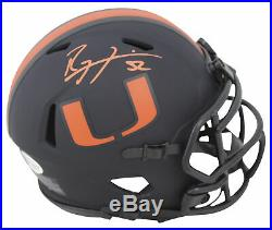 Miami Ray Lewis Authentic Signed Eclipse Speed Mini Helmet BAS Witnessed