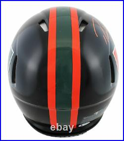 Miami Ray Lewis & Ed Reed Signed Black Full Size Speed Proline Helmet BAS Wit