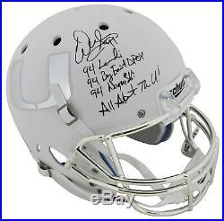 Miami Warren Sapp Career Stat Signed White Matte Full Size Rep Helmet BAS