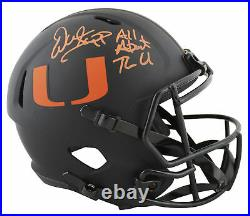 Miami Warren Sapp Signed Eclipse Full Size Speed Rep Helmet BAS Witnessed