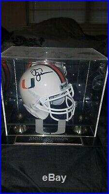 Miami hurricanes Autographed Mini Helmet Jimmy Johnson
