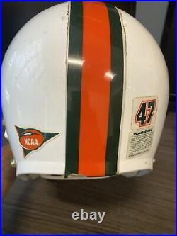 Miami hurricanes vintage game used helmet