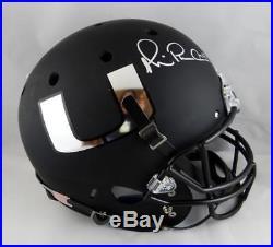 Michael Irvin Autographed Full Size Schutt Miami Hurricanes Black Helmet- JSA W