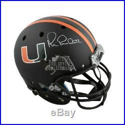 Michael Irvin Autographed Miami Hurricanes Full-Size Football Helmet JSA COA