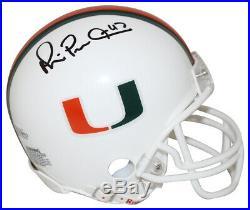 Michael Irvin Autographed Miami Hurricanes White Mini Helmet BAS 25654