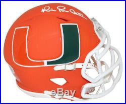 Michael Irvin Autographed/Signed Miami Hurricanes AMP Mini Helmet BAS 25656