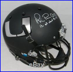 Michael Irvin Autographed Signed Miami Hurricanes Black Full Size Helmet Jsa
